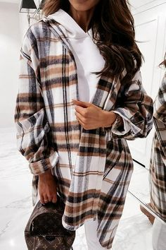 Lace Blazer, Plaid Outfits, Shirt Blouses, Shirt Style, Long Sleeve Shirts, Jackets For Women, Casual, Sleeves, Peacoats