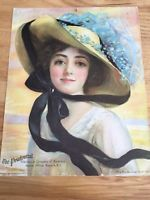 1912 The Prudential Girl Calendar in Collectibles Calendar Girls, Vintage Advertisements, Vintage Prints, Disney Characters, Fictional Characters, Disney Princess, History, Collection, Vintage Ads