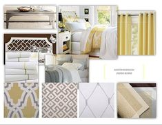 Gray, yellow, & white--this is our palette.
