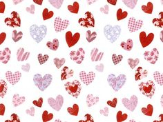 PATCHWORK HEARTS (L) - Roterose