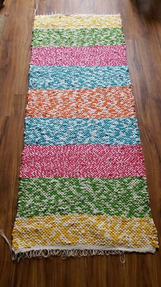 Wove my first rag rug!