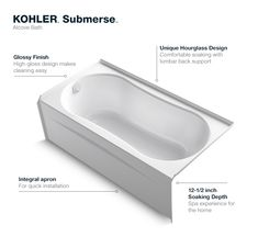 Delta Classic 400 Curve 5 Ft Left Drain Soaking Tub In