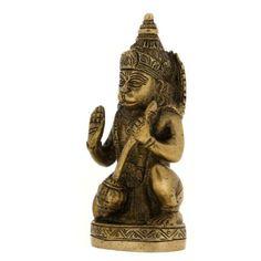 Amazon.com: Gifts Idea Sitting Statue Lord Hanumaan Brass Figurine 2 X 1.75 X 5 Inches: Home & Kitchen
