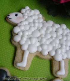 Domestic Sugar - fluffy lamb sugar cookies for Easter