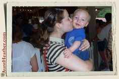 Me & Kyle at Idlewild... he is always a lot of fun at every age!  I love his perfectly round head!  #AuntHeather