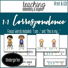 I like to use a wide variety of resources and tools to help teach 1 to 1 correspondence to preschool and kindergarten students who are learning to read. I love that these activities are not worksheets and can be used multiple times!