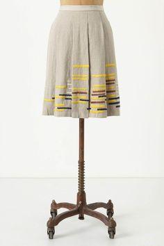 Mmmm..... pretty little linen skirt - love the embroidery detail!