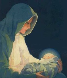 Love this painting of Mary and Jesus. Love the peaceful pondering Jesus.