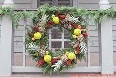 """Isabella reporting:   Today's post will be something of a """"wreath round-up"""", with a few of my favorites of this year's crop. The restri..."""
