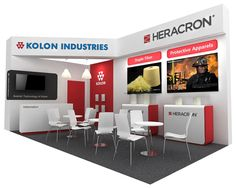 KOLON HERACRON exhibition stand, 2015 on Behance