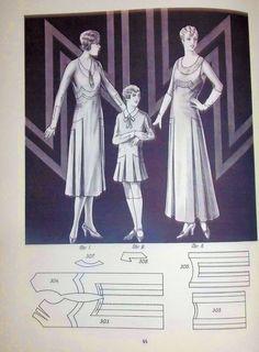 RARE Lutterloh Patterns Books Symetra 1932 The Golden Rule Flapper Dress | eBay