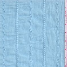 Aqua Blue Embroidered Stripe Eyelet #17356