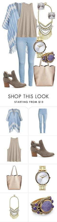 """Sans titre #4402"" by kina-ashley ❤ liked on Polyvore featuring BeckSöndergaard, Sole Society, Neiman Marcus, Nixon, BaubleBar, Natures Jewelry and Kate Spade"