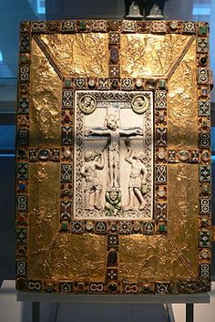 Codex Aureus of Echternach. Treasure Binding Creator unknown  http://inpress.lib.uiowa.edu/Feminae/DetailsPage.aspx?Feminae_ID=30993