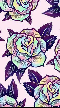 colorful psychedelic rose wallpaper for your phone or desktop computer. By EctogasmCute, colorful psychedelic rose wallpaper for your phone or desktop computer. By Ectogasm Whats Wallpaper, Wallpaper Free, Trippy Wallpaper, Cute Wallpaper For Phone, Colorful Wallpaper, Screen Wallpaper, Flower Wallpaper, Pattern Wallpaper, Wallpaper Backgrounds