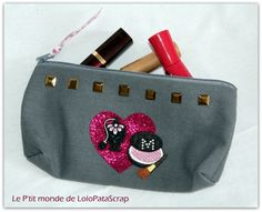 Trousse à maquillage customisée