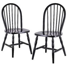 Solid Wood Windsor Chair Set of 2 Kitchen Chairs Dining Room Furniture Black for sale online Windsor Dining Chairs, Solid Wood Dining Chairs, Dining Chair Set, Dining Room Chairs, Dining Room Furniture, Side Chairs, Furniture Decor, Dining Area, Painted Furniture