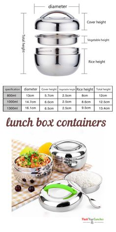 Two-level round lunch box thermos l Lunch Box Thermos, Bento Box Lunch, Lunch Boxes, Lunch Box Containers, Food Storage Containers, Stainless Steel Lunch Containers, Food Grade, Cleaning, Cover