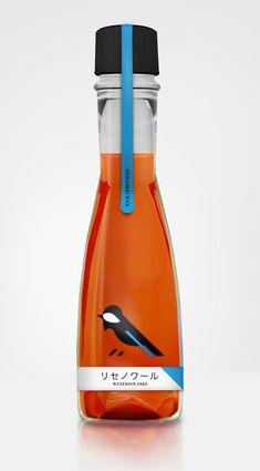 ♂ Creative package design bold color Ricenoir Sake | #packaging