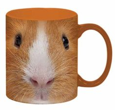 This very durable Just Funky 11 ounce Ceramic Coffee Mug comes with The Mountain Guinea Pig Face design. Care Instructions: Do Not Microwave & Hand Wash Only!