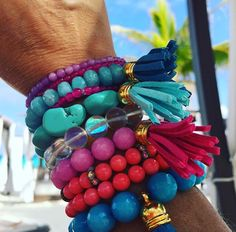 Colorful and stackable bracelets. Add some color to YOUR life!   https://www.etsy.com/shop/BrunetteBeads?ref=search_shop_redirect