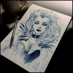 Image about art in Illustrations/Drawings ♥ by charlie tango Tattoo Sketches, Tattoo Drawings, Drawing Sketches, Sketch Art, Sketching, Sketch Poses, Neue Tattoos, Moon Tattoos, Pencil Art