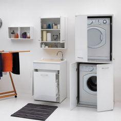Colonna porta lavatrice e asciugatrice facilissimo for Mobile nascondi lavatrice ikea