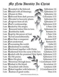✟♥ ✞ ♥✟ My New Identity in Christ ✟♥ ✞ ♥✟†