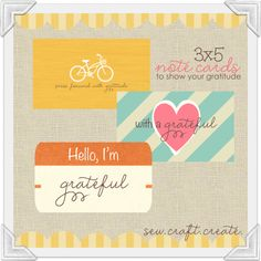 Love these grateful cards #freeprintable