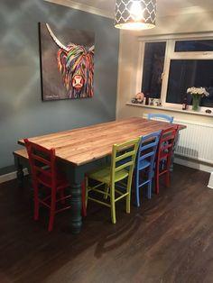 Handmade Bespoke Farrow and Ball Farmhouse Table. Bespoke Furniture, Handmade Furniture, Door Furniture, Kitchen Furniture, Free Standing Kitchen Units, Little Greene Paint Company, Shaker Doors, Sink Units, Handmade Kitchens