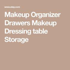 Makeup Organizer Drawers Makeup Dressing table Storage