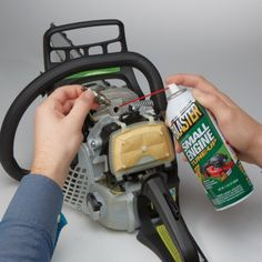 Small Engine Tune-up Restores power, smoothes engine performance, removes deposits Simply remove the Lawn Mower Maintenance, Lawn Mower Repair, Auto Maintenance, Chainsaw Repair, Tractor Mower, Lawn Equipment, Diy Home Repair, House Repair, Engine Repair
