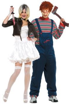 chucky and bride tiffany couple costume group halloween costumes couples halloween costumes and family - Teen Couples Halloween Costumes
