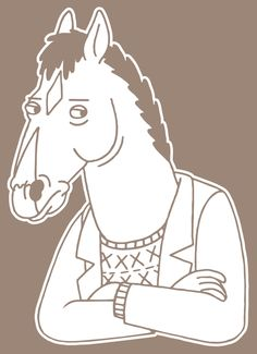 BOJACK HORSEMAN Vinyl Decal by Buttonaked on Etsy