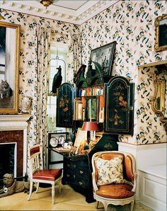 From the Vogue Archive: Oscar de la Renta's Country Home Beautiful Interiors, Beautiful Homes, Dream Desk, English Interior, Ferrat, Interior Decorating, Interior Design, Decorating Ideas, French Country House