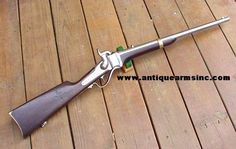 Sharps Carbine. As it had a shorter barrel than a long rifle, this piece was carried by most members of the cavalry during the Civil War.