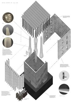 Angus Earl    The Architecture of Dissonance    Exploded Axonometric    2011