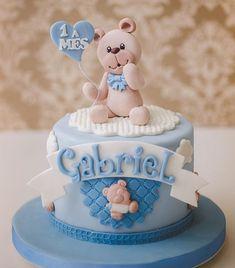 @ateliedoacucar 👏🏻👏🏻👏🏻 @festas_de_luxo 😍😍😍 Baby Shower Cupcakes For Girls, Cupcakes For Boys, Girl Cupcakes, Torta Baby Shower, Shower Baby, Baby Boy Cakes, Dog Cakes, Fondant Cakes, Cupcake Cakes