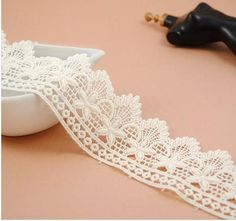 Ivory Nylon Floral Lace Trim Exquisite Crochet by HappyLaceCraft, $2.09. To make the lace trim shorts?