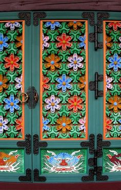 Tongdosa temple doors, Yangsan City, South Korea by echkbet