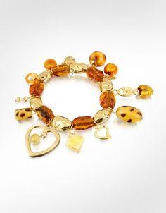 Antica Murrina Melita - Murano Glass Charm Elastic Bracelet