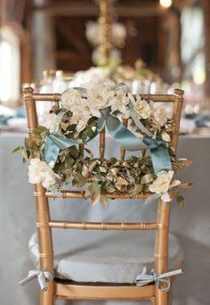 Chair wreaths.
