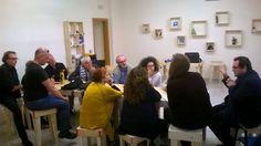 """""""Qual è la condizione essenziale del dialogo? È la capacità di porsi dal punto di vista dell'altro."""" CheFare  #lareteincontralarete al #Balab : con noi l'occhiodelciclone theater (Bari), TeatroInsieme (Mola di Bari), Teatri di Pace (Bari)."""