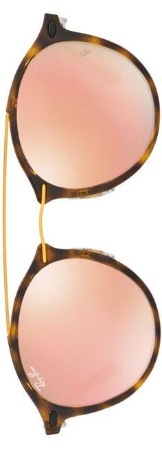 Ray-Ban Phantos Double-Bridge Mirrored Sunglasses