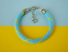 """Galina has just posted a new style of her """"I Love Ukraine"""" bracelet! Another great design to show your pride.  The I love Ukraine Bracelet  by MonistoJewelry, $24.00"""