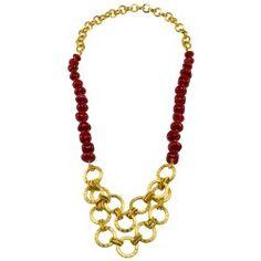 6b3faee8bdb2 collares para mujer · Collar corto rojo con dije en cadena
