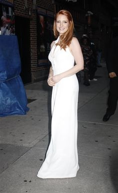 Jessica Chastain – 2014-10-16 – arriving at the 'Late Show with David Letterman' in New York (no. 3664)