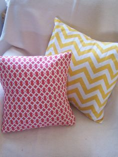 chevron and trellis pillow covers