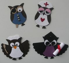 Different owls using Stampin Up Owl Punch / I love this stamp so many things you can do with it.