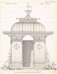 Pissoir. Monatskonkurrenz November 1877 | unbek. Architekt